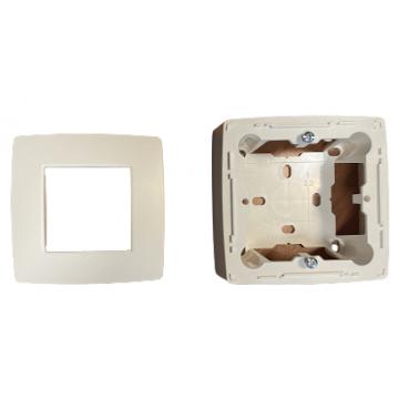 Boîtier blanc avec couvercle pour DA-5013
