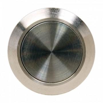 Bouton poussoir INOX 19 mm, NO, bornier à vis